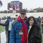 "Dick with Cathy McKnight at the SMU v UCF game on Dec 7, 2013 or otherwise known as ""Ice Bowl"" with 24 degrees and hard ice in the stadium."